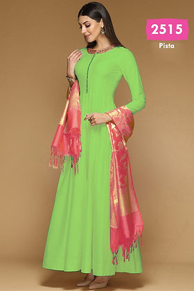 Bangalori Silk Gown with Dupatta