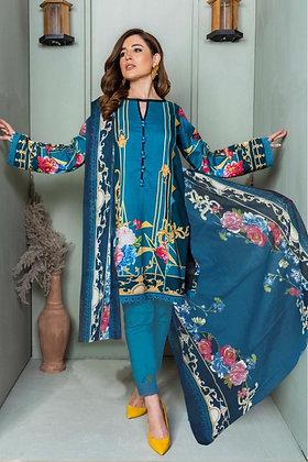 Cotton Dress Material - Unstitched Kurti Pants Dupatta