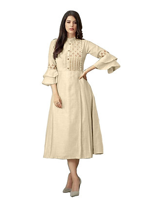 Cotton Kurti with Embroidery Work
