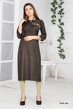 Cotton Blend Kurti with Embroidery