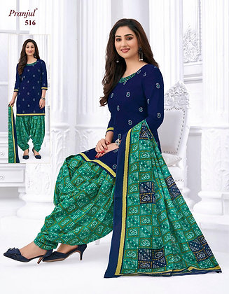 Cambric Cotton Patiala Dress With Dupatta