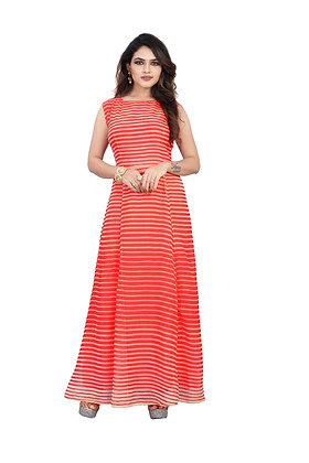 Sleeveless Georgette Gown