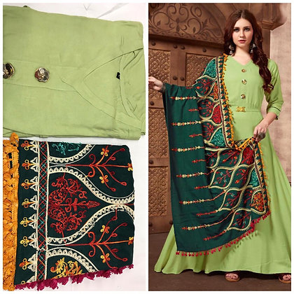 Kurti with Heavy Work Dupatta