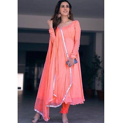 Designer Georgette Salwar Suit With Dupatta