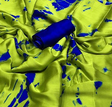 Saree Japan Crepe with Blouse - Shibori Print
