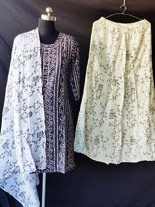Rayon Kurti Skirt with Dupatta