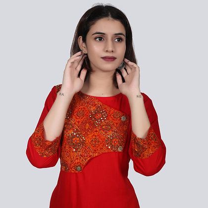 Kurti and Pant with Handwork Embroidery