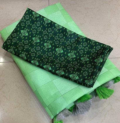 Tussar Satin Silk Dress Set