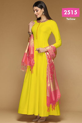 Bangalori Silk Designer Gown with Dupatta