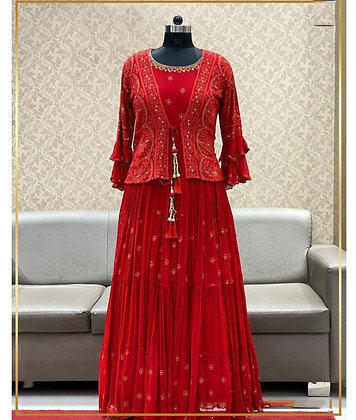 Georgette Designer Gown with Koti