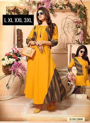 Party Wear Long Kurti with Jacket
