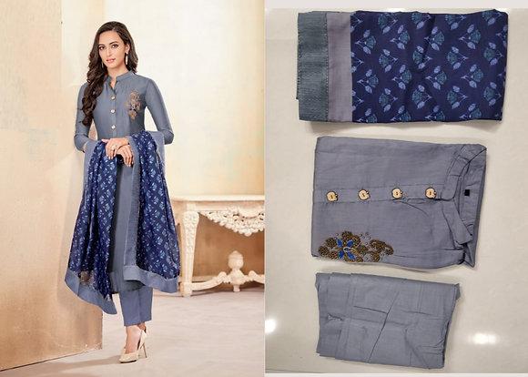 Jam Cotton Kurti Pants with Dupatta
