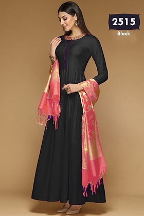BangaloriSilk Gown with Dupatta