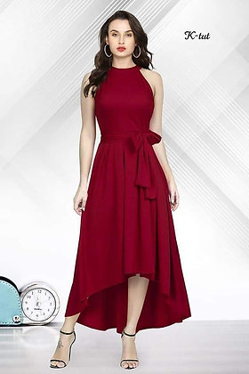 Rayon Sleeveless Gown