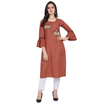 Polycot Embroidered Kurti