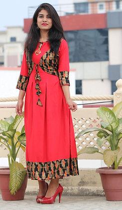 Rayon Jacket Stylish Dress