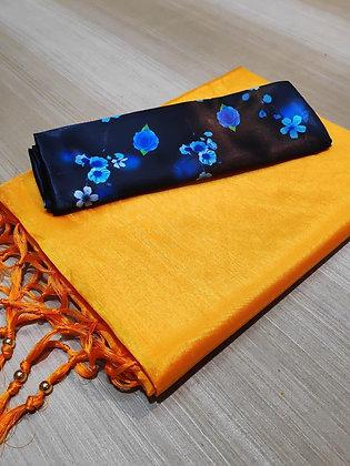Zoya Silk Saree With Tassels