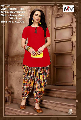 Top With Dhoti - Patiala