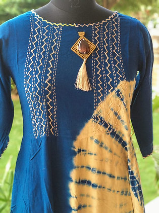 Cotton Embroidered Long Gown