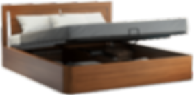 Branzi Walnut Storage Bed from CondoBed