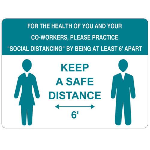 Keep A Safe Distance Vinyl Label