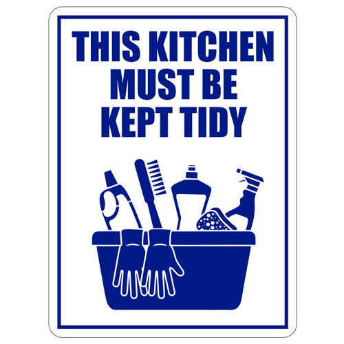This Kitchen Must Be Kept Tidy Vinyl Label