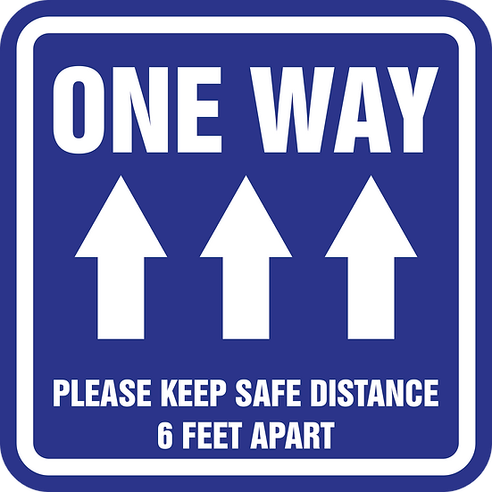 One Way Aisle Labels (English or Spanish)
