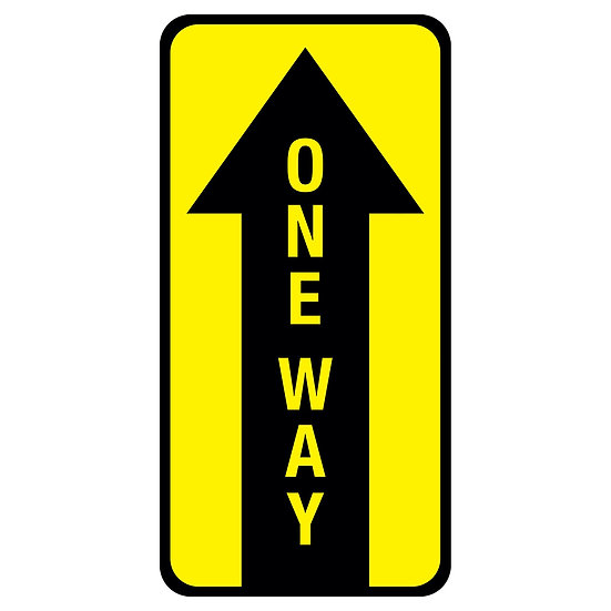 One Way Floor Graphic (10 pack)