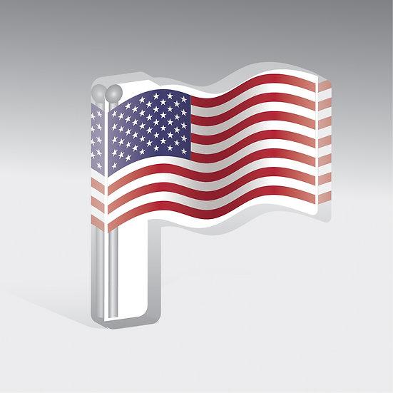 American Flag Acrylic Mask Perch