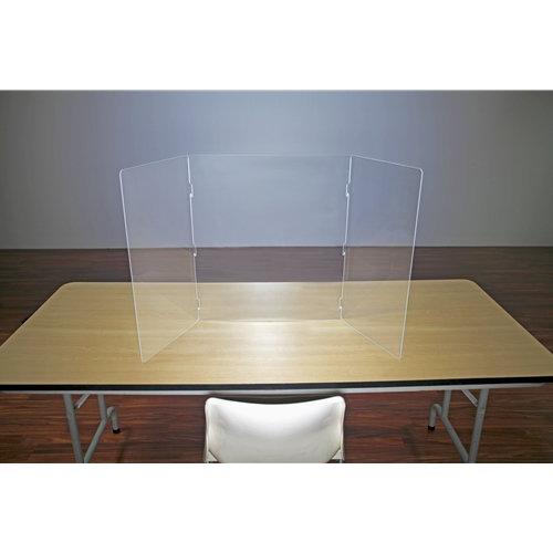 Flatpack Plexiglass Table Top Sneeze Guard
