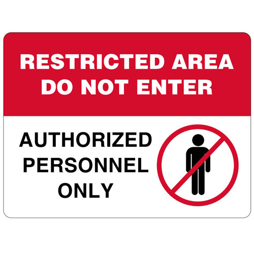 Restricted Area Do Not Enter Authorized Personnel Only Vinyl Label