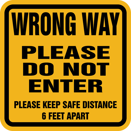 Wrong Way Please Do Not Enter Vinyl Label (English or Spanish)