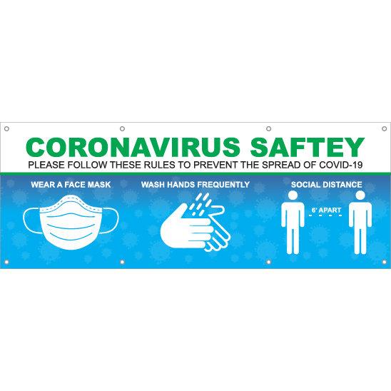 Coronavirus Safety Hanging Banner