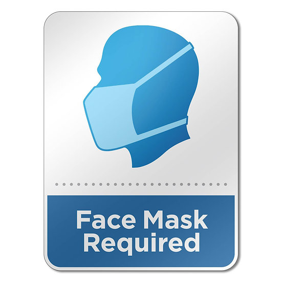 Face Mask Required Acrylic Sign (Pack of 6)