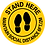 Thumbnail: Stand Here Maintain Social Distance 6 Ft Round Label (English or Spanish)