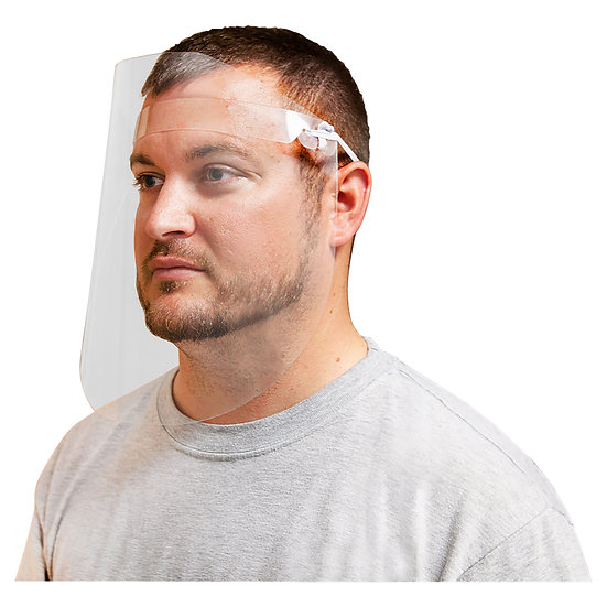Clear Acrylic Face Safety Shield (Pack of 25)