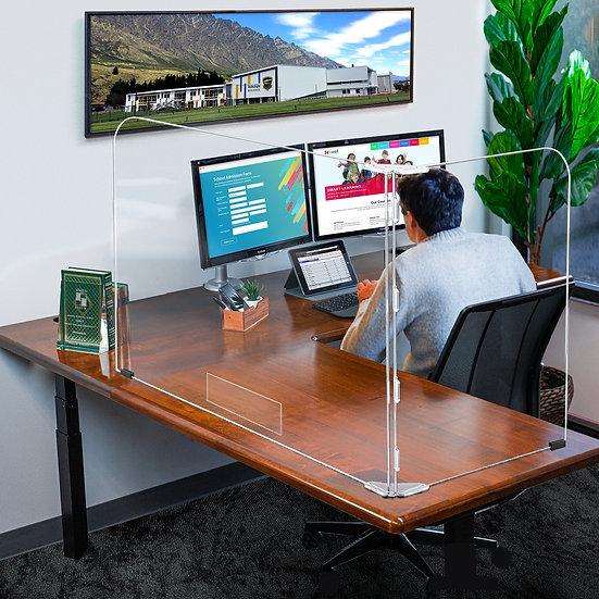 Office Desktop 2 Panel Safety Shield Sneeze Guard Barrier