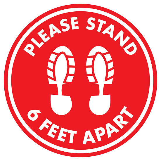 Please Stand 6 Feet Apart Floor Graphic (10 pack)