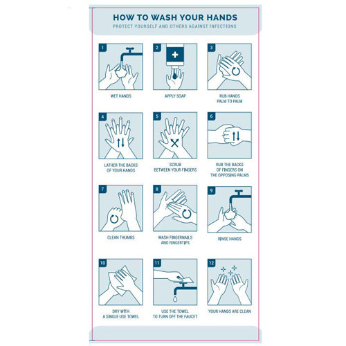 How To Wash Your Hands Label (15 pack)