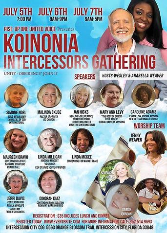 62. Koinonia Intercessors Gathering Anno