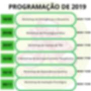 Cronograma de Workshops de 2019