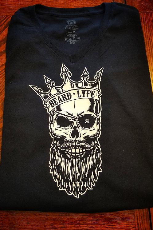 Beard Lyfe King Skull Vinyl Logo T-Shirt