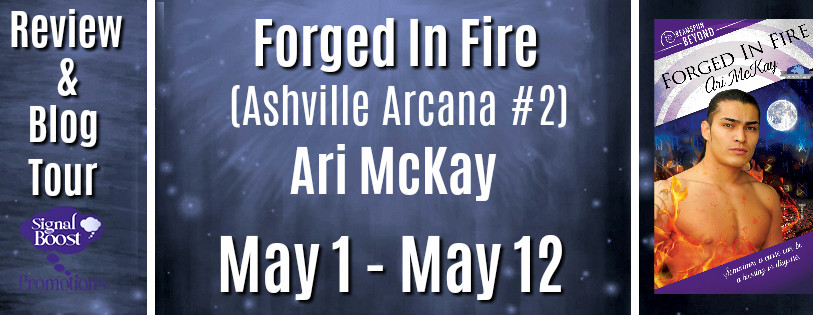 Review & Blog Tour - Forged In Fire (Ashville Arcana # 2) By Ari McKay