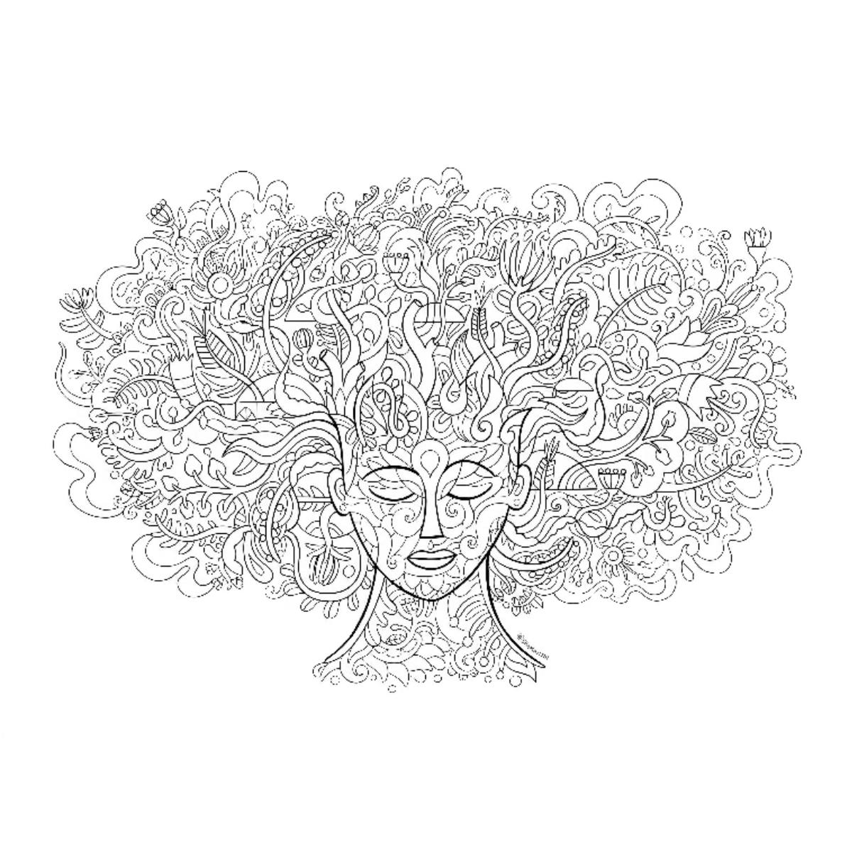 Flourish - A4 Colouring Page