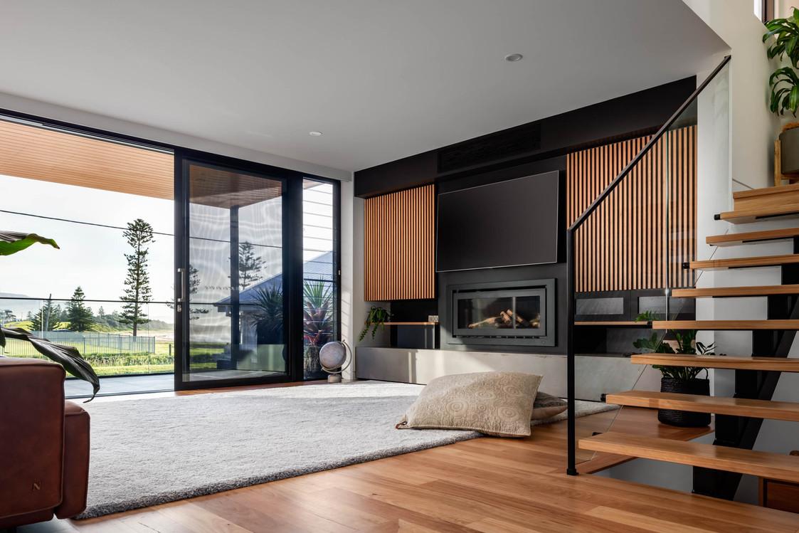 Ursula Rd Bulli, custom joinery and fireplace