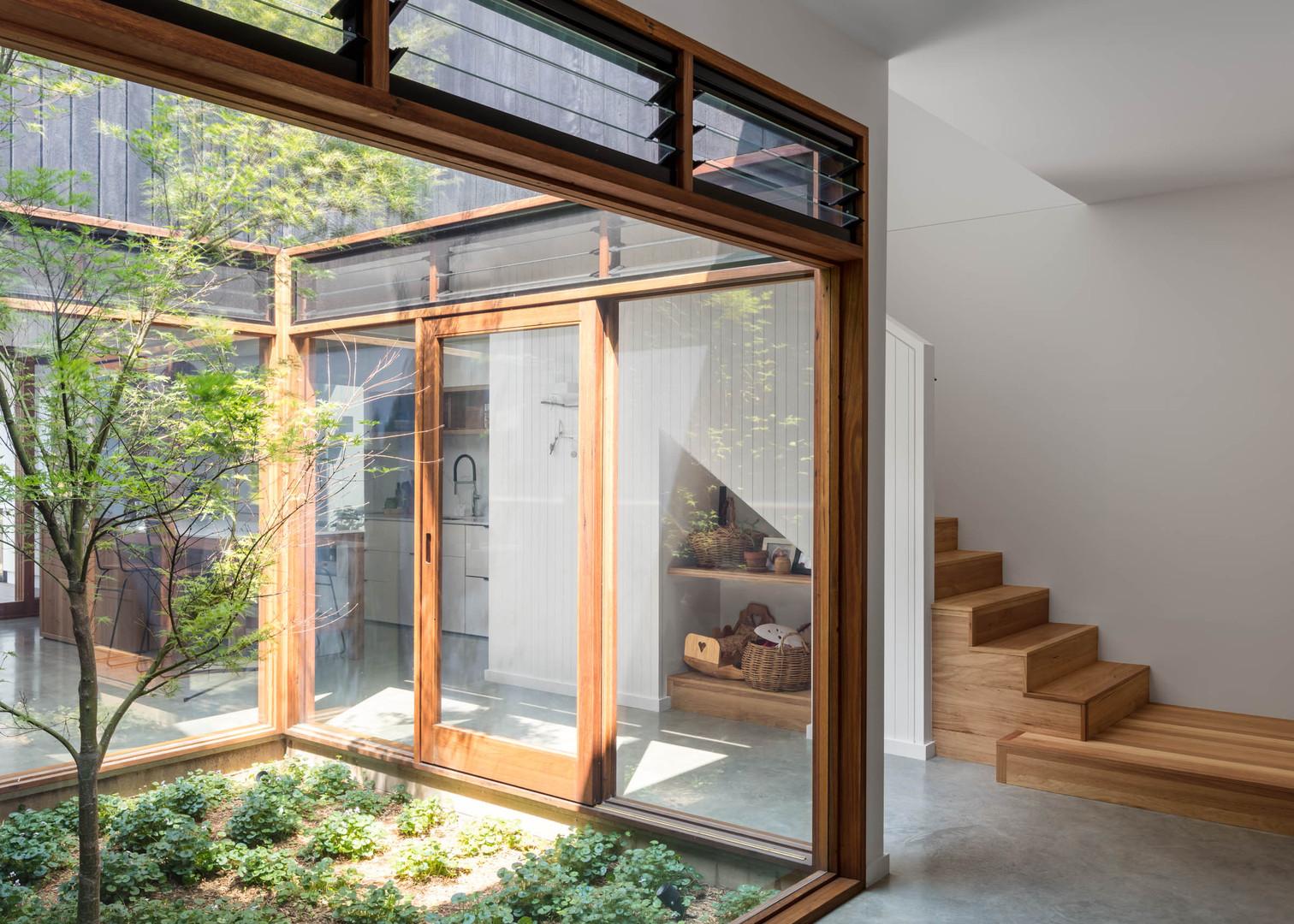 Japandi House Towradgi, atrium