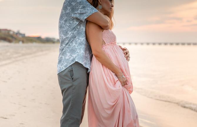 Carly + Nate | Maternity | Chix Beach, Virginia