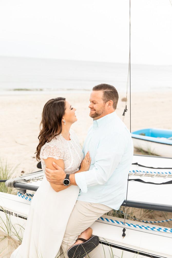 Meredith + Austin | Engaged | Chic Beach, Virginia Beach