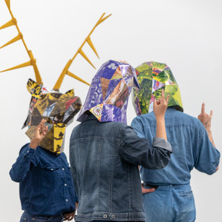 Animal masks designed for 'Department of sexual revolution studies' by Eimar Walshe
