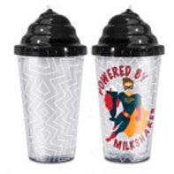 Powered by Milkshakes Superhero Boy Straw Cup
